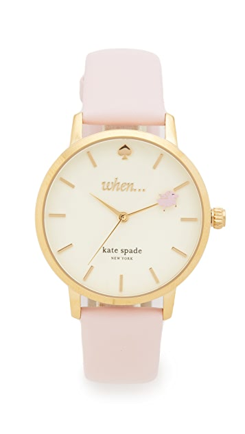 Kate Spade New York Metro Novelty When Watch