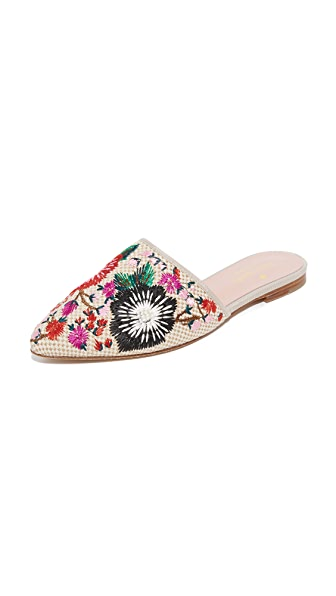 Kate Spade New York Monteclaire Embroidered Mules - Multi