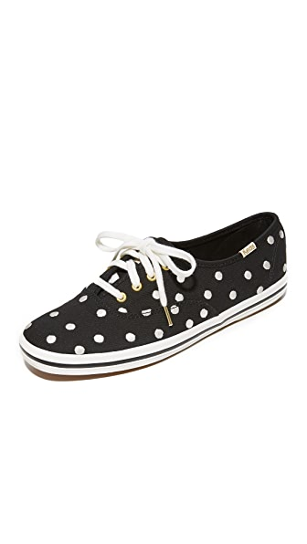 Kate Spade New York x Keds Kick Polka Dot Keds Sneakers In Pristine White/Black