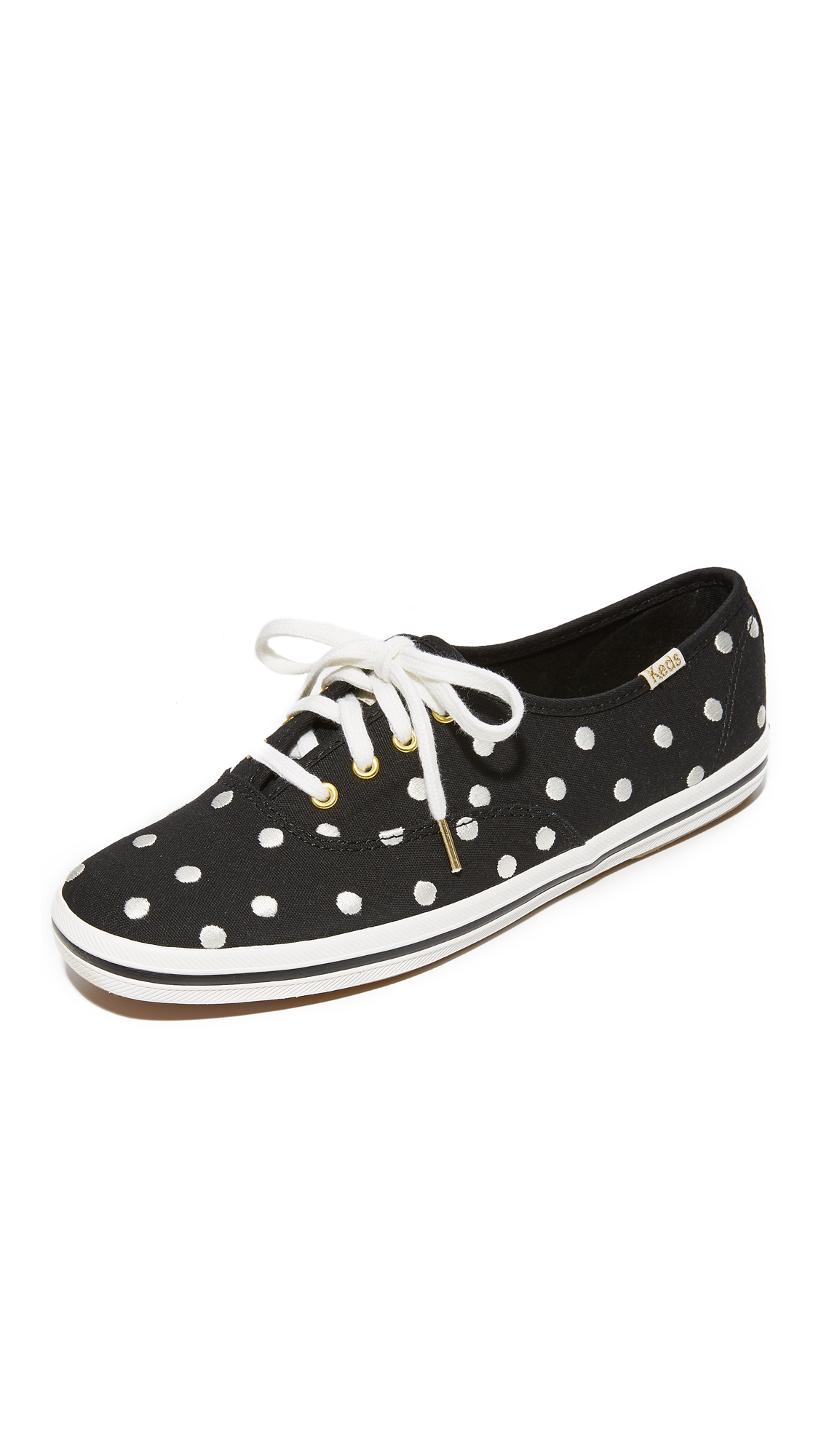 Kate Spade New York x Keds Kick Polka Dot Keds Sneakers - Pristine White/Black