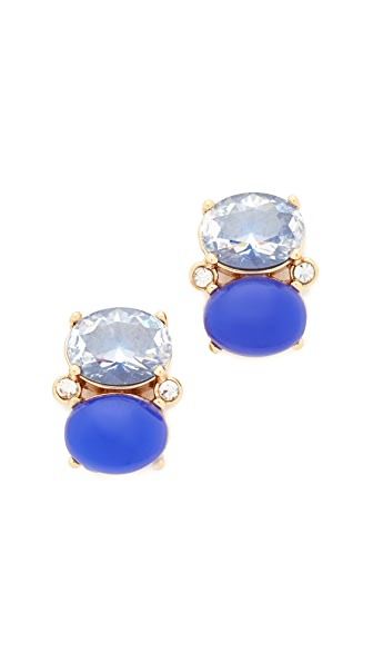 Kate Spade New York Shine On Drop Stud Earrings - Navy Multi