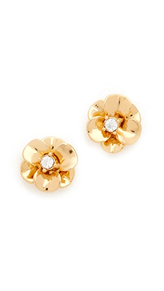 Kate Spade New York Shine On Flower Stud Earrings In Gold