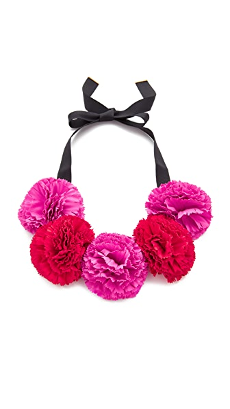 Kate Spade New York Fiesta Floral Statement Necklace - Pink Multi