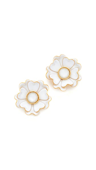 Kate Spade New York Bright Blossom Flower Stud Earrings - White