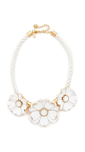 Kate Spade New York Bright Blossom Flower Statement Necklace - White