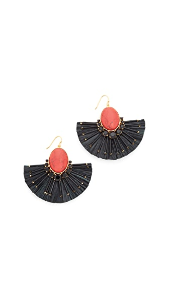 Kate Spade New York Fiesta Fringe Statement Earrings