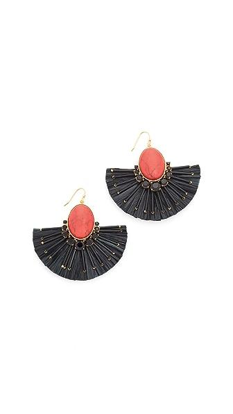 Kate Spade New York Fiesta Fringe Statement Earrings - Red Multi