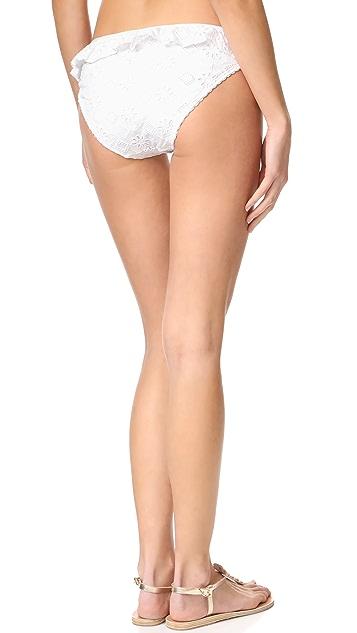 Kate Spade New York Embroidered Classic Bikini Bottoms
