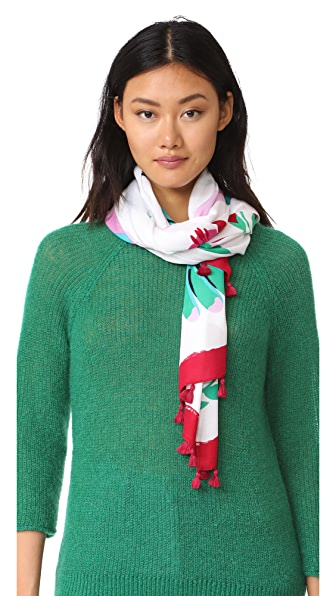 Kate Spade New York Продолговатый шарф с изображениями колибри