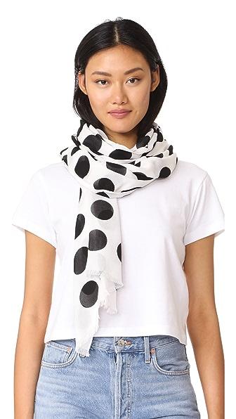 Kate Spade New York Продолговатый шарф Grid с рисунком в горошек