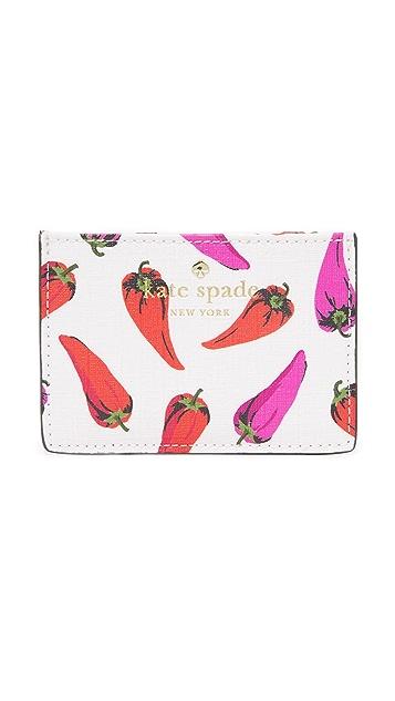 Kate Spade New York Hot Pepper Card Holder