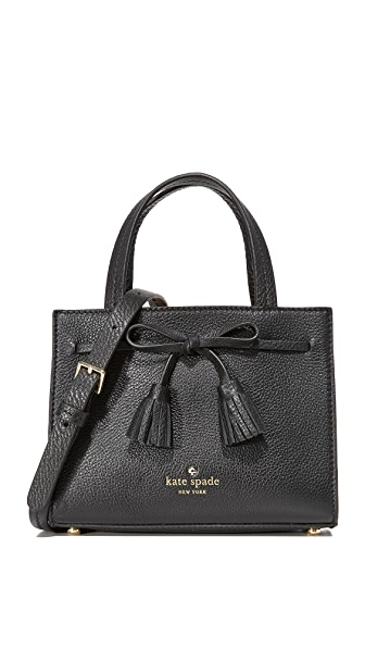 Kate Spade New York Hayes Street Mini Isobel Satchel - Black