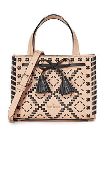 Kate Spade New York Cashew Embroidered Mini Isobel Satchel