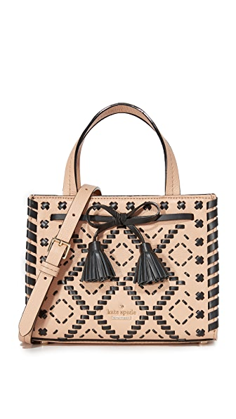 Kate Spade New York Hayes Street Embroidered Mini Isobel Satchel - Cashew
