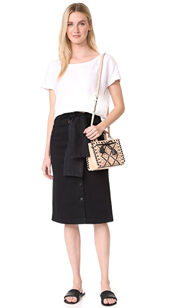 Kate Spade New York Hayes Street Embroidered Mini Isobel Satchel