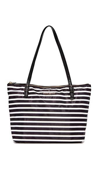 Kate Spade New York Small Maya Tote In Black/Clotted Cream