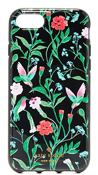 Kate Spade New York Jeweled Jardin iPhone 7 Case In Black Multi