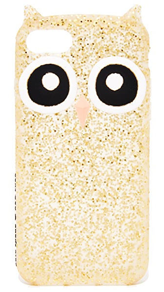 Kate Spade New York Silicone Owl iPhone 7 Case In Gold