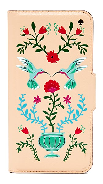 Kate Spade New York Hummingbird Folio iPhone 7 Case - Multi