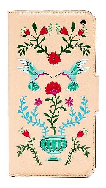Kate Spade New York Hummingbird Folio iPhone 7 / 8 Case