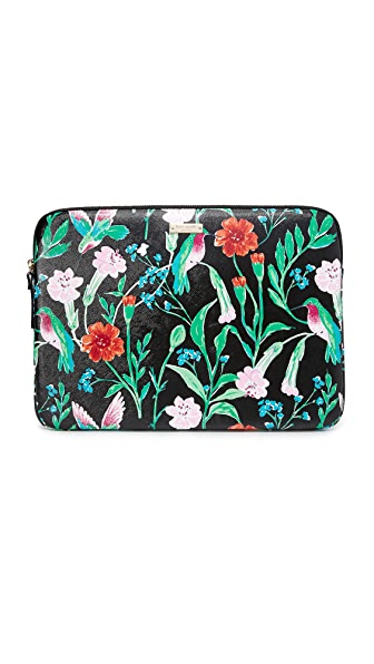 Kate Spade New York 13 inch Jardin Laptop Sleeve - Black Multi
