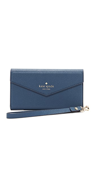 Kate Spade New York Envelope Wristlet for iPhone 7 - Azurite