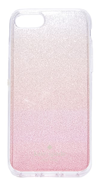Kate Spade New York Glitter Ombre iPhone 7 Case - Pink Glitter