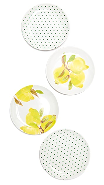 Kate Spade New York Lemon Melamine Coaster Set