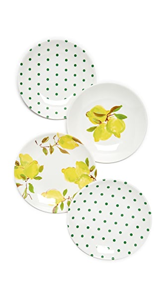 Kate Spade New York Lemon Melamine Tidbit Plates