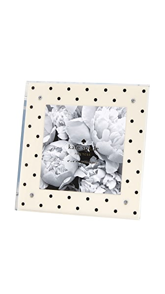 Kate Spade New York Acrylic Dots Picture Frame - Cream/Black