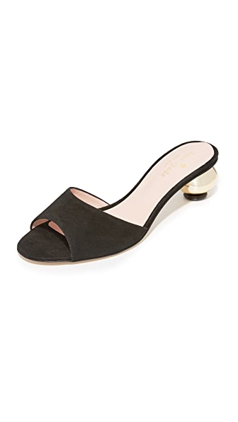 Kate Spade New York Paisley Mules - Black