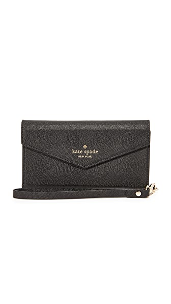 Kate Spade New York Envelope Wristlet for iPhone 7 - Black