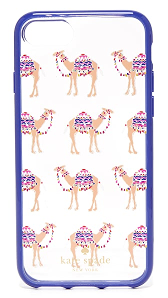 Kate Spade New York Camel March iPhone 7 Case - Clear Multi