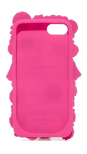 Kate Spade New York Silicone Pom Pom iPhone 7 Case