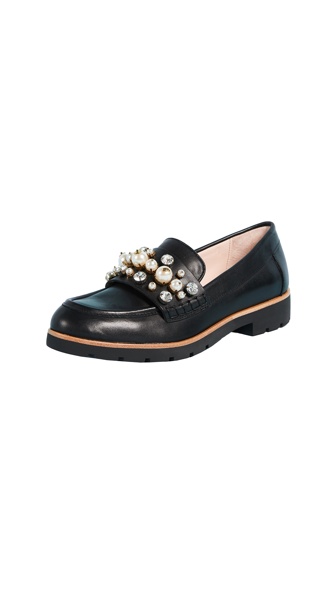 Kate Spade New York Karry Too Studded Loafers - Black