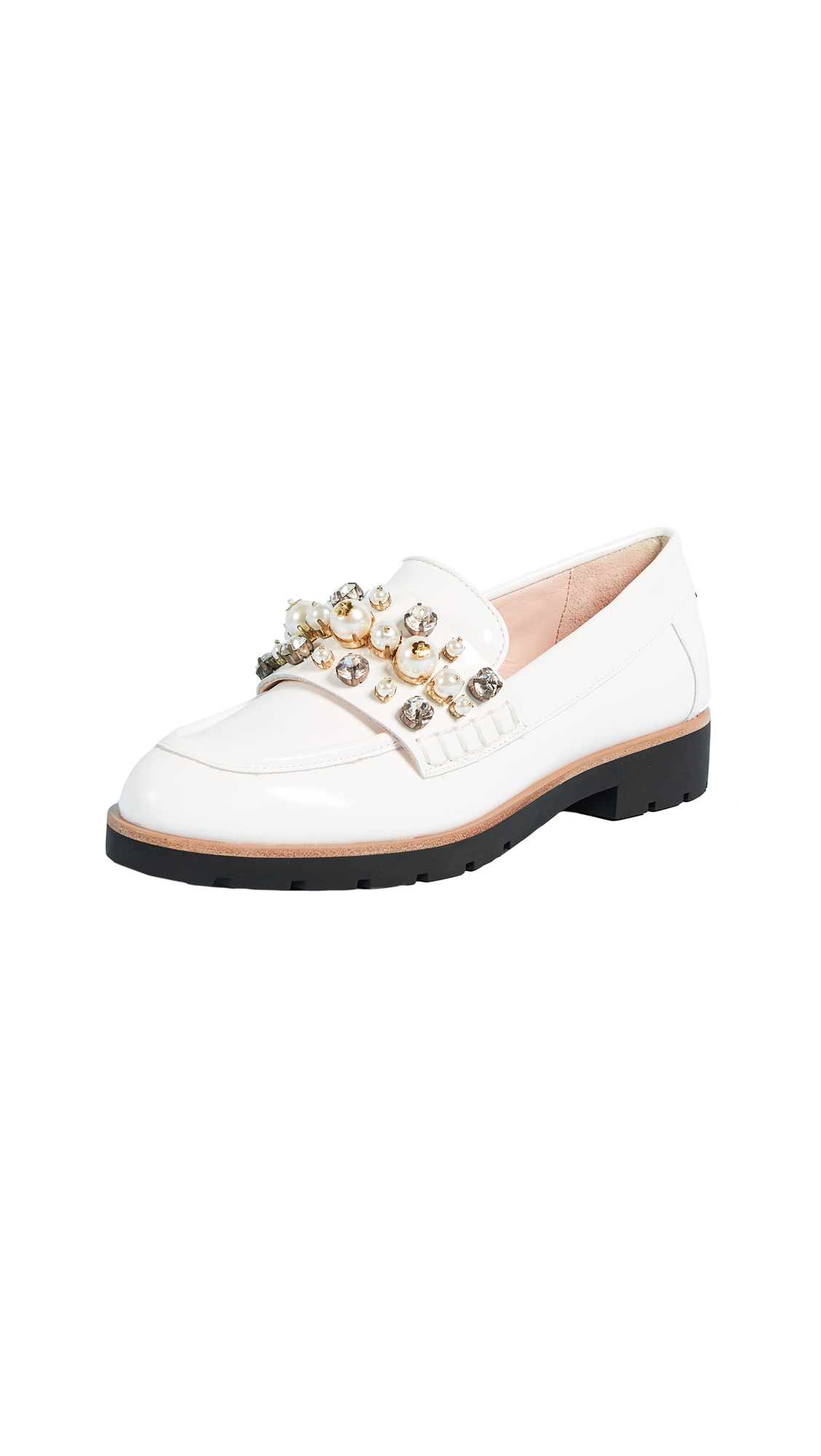 Kate Spade New York Karry Too Studded Loafers - Off White