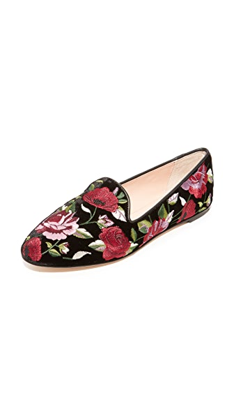 Kate Spade New York Swinton Floral Slip On Flats In Black