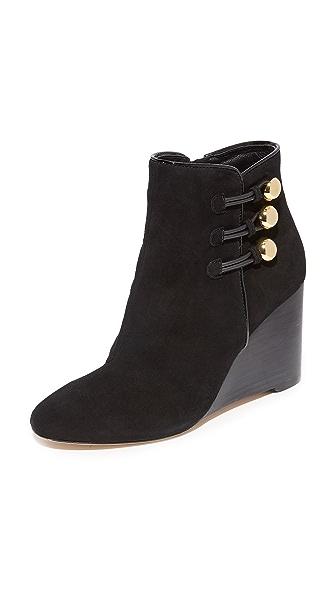 Kate Spade New York Geraldine Wedge Booties In Black
