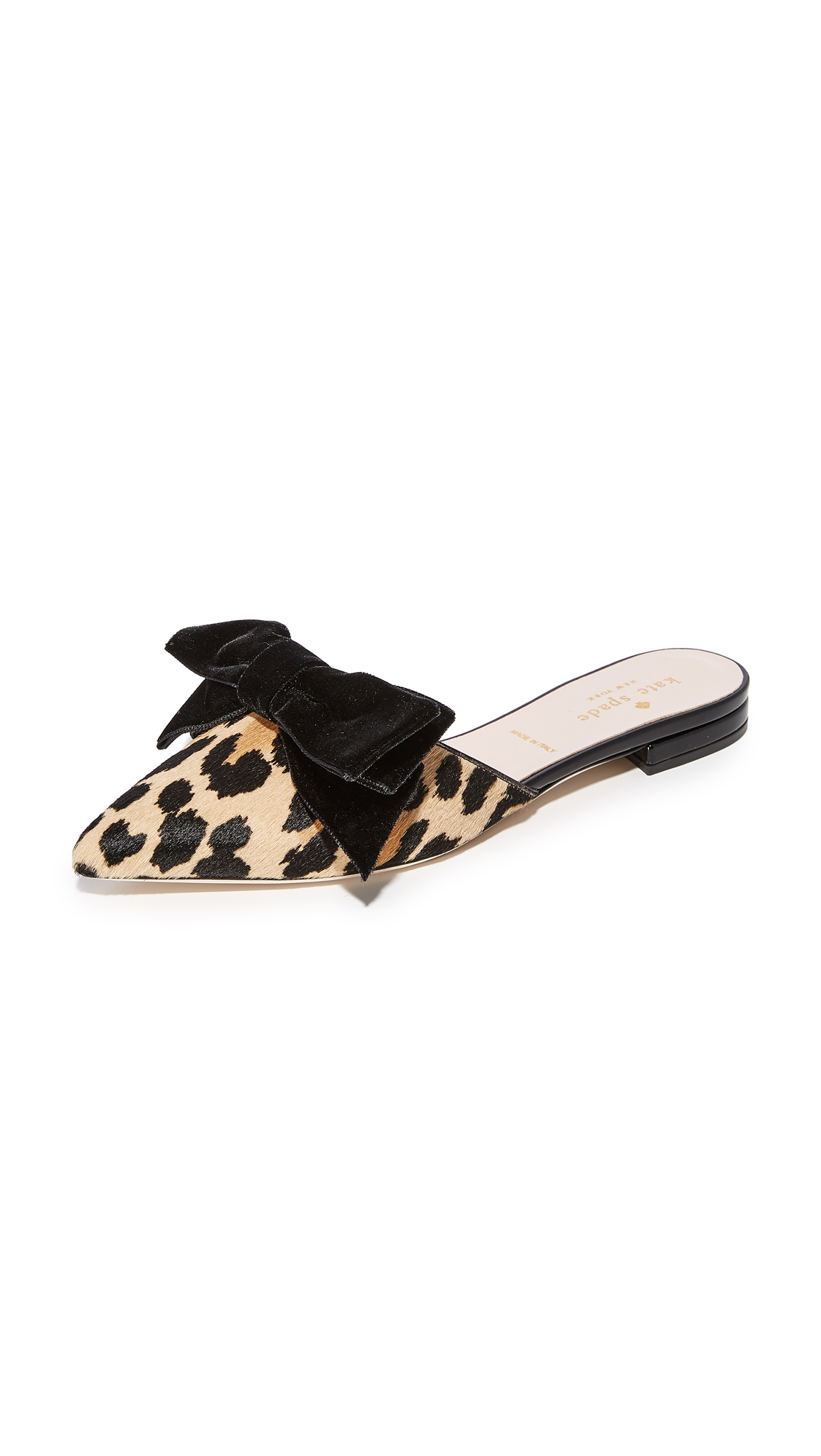 Kate Spade New York Belgrove Bow Mules - Amaretto/Black Leopard