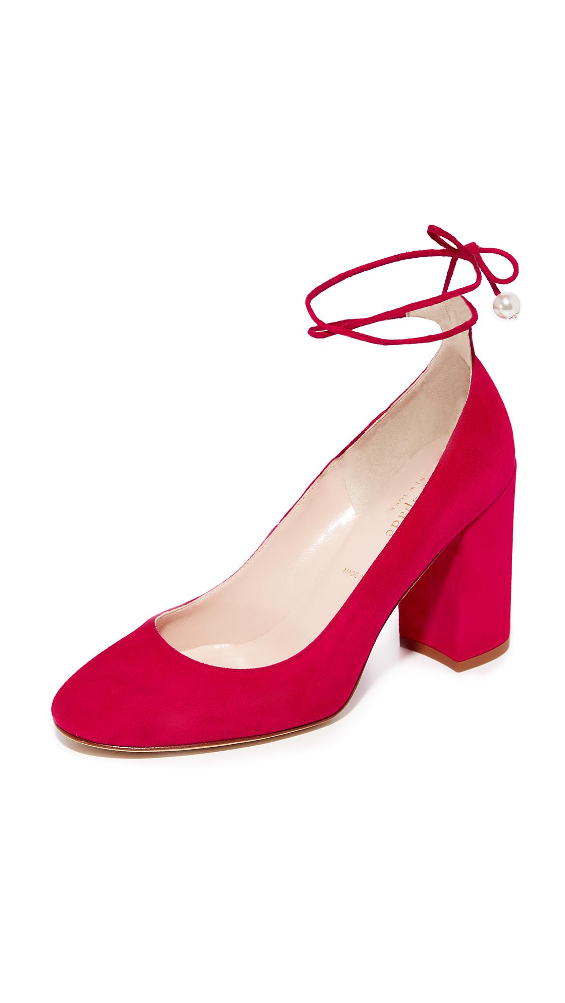 Kate Spade New York Gena Charm Pumps - Red