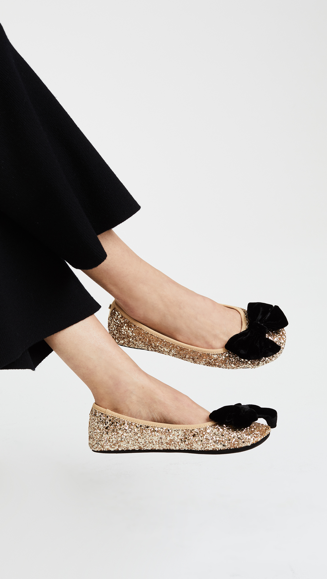 adf35d06f795 Kate Spade New York Sussex Glitter Ballet Flats
