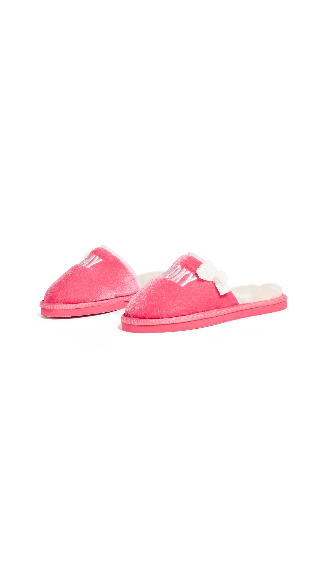 Kate Spade New York Berry Hooky Embroidery Slippers - Deep Carnation