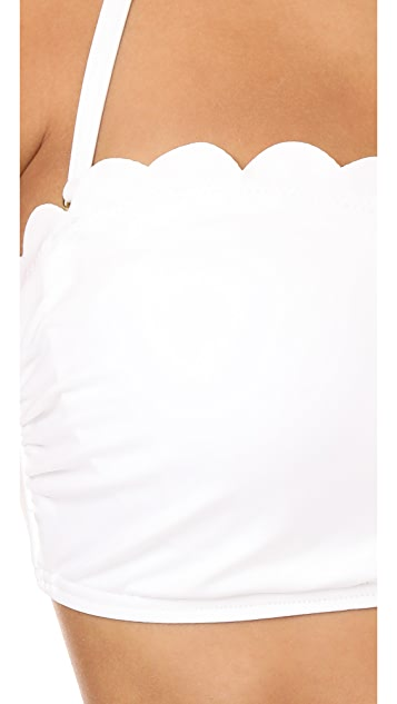 Kate Spade New York Scalloped Bandeau Bikini Top