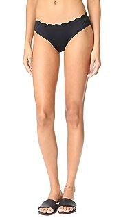 Kate Spade New York Scalloped Hipster Bikini Bottoms
