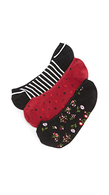 Kate Spade New York Bloom Floral  3 Pack Sock Set