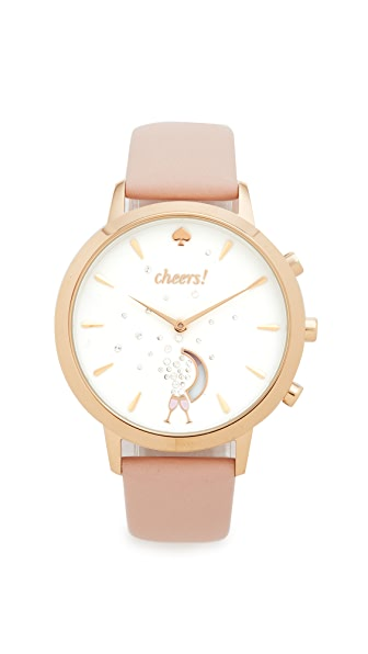 Kate Spade New York Grand Metro Leather Smartwatch Tracker - Gold/Pink/White