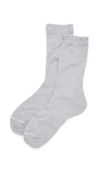 Kate Spade New York Sparkle Socks - Silver