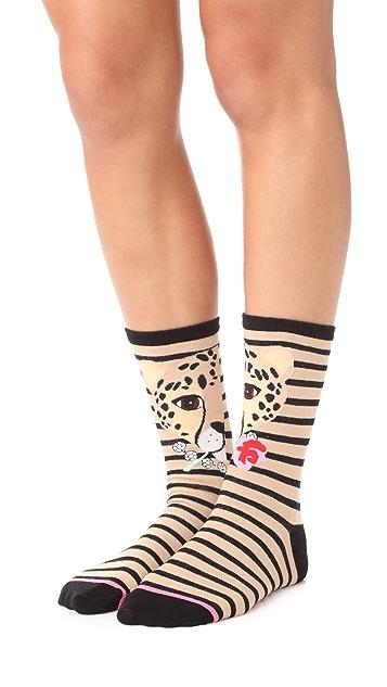 Kate Spade New York Cheetah 3 Pack Sock Set