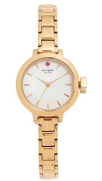 Kate Spade New York Mini Park Row Watch - Gold/Mother of Pearl