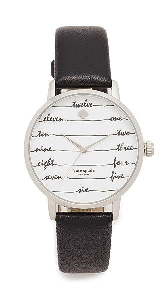 Kate Spade New York Chalkboard Leather Watch